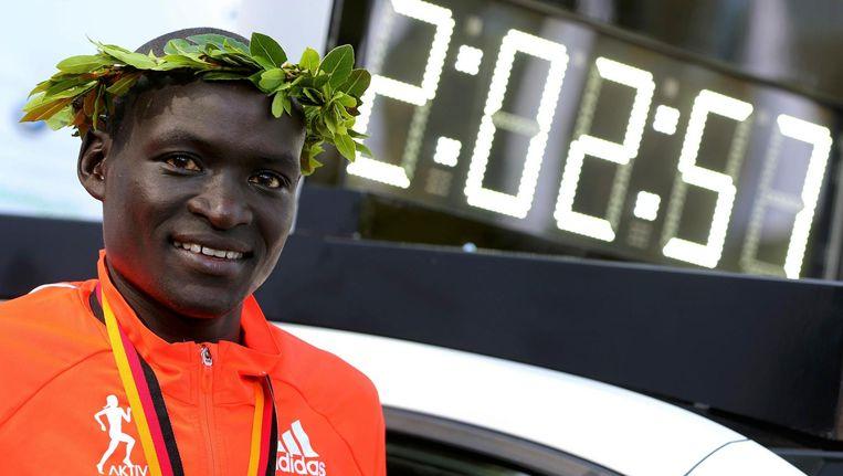 2.02.57 uur is sinds 2014 het wereldrecord marathon van de Keniaan Dennis Kimetto. Beeld reuters