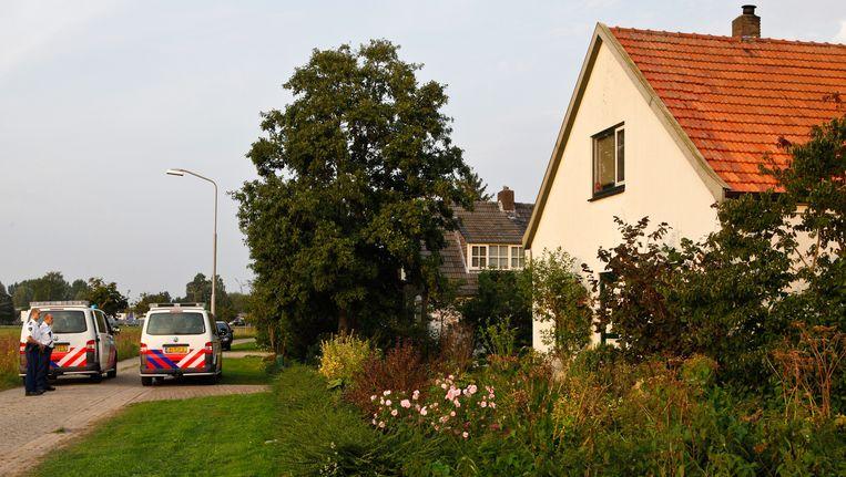 Het huis werd gehuurd door de twee slachtoffers die dood werden gevonden in het huis van de 59-jarige rechercheur Beeld anp