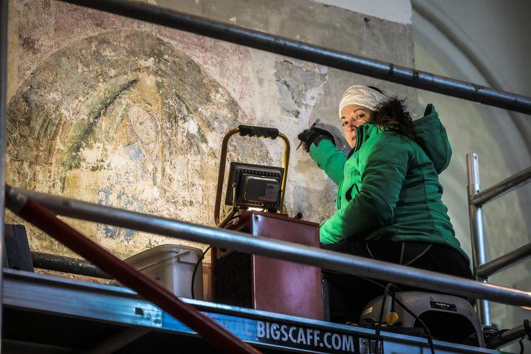 Bij de restauratie zijn muurschilderingen ontdekt.