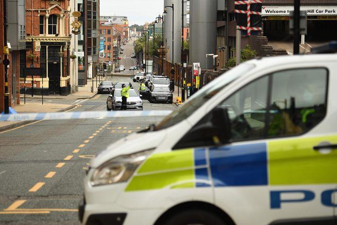De politie is massaal aanwezig in het uitgaansgebied.