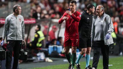 Geblesseerde Ronaldo ziet Portugal weer punten verliezen