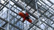 Klimteam van brandweer houdt oefening op nieuwbouw van Sivafrost