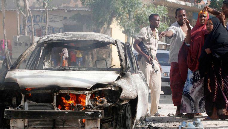 De Somalische hoofdstad Mogadishu werd half februari getroffen door een aanslag door Al Shabaab. Beeld reuters