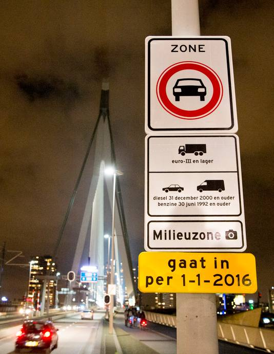 Milieuzone in Rotterdam.