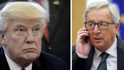 """Juncker niet """"buitensporig optimistisch"""" voor onderhoud met Trump"""