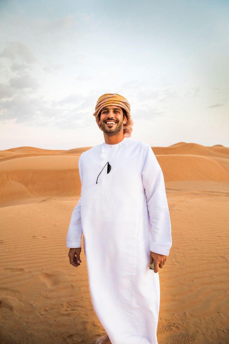 Onze woestijngids Mohammed Hamail Al Hajri Beeld null