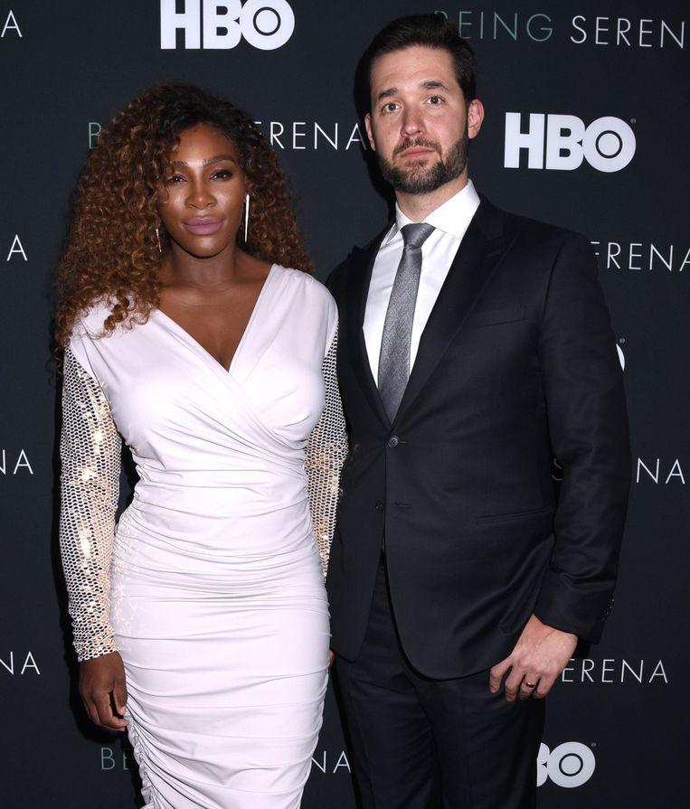Op de première van HBO-documentaire 'Being Serena' in New York met haar partner Alexis Ohanian.
