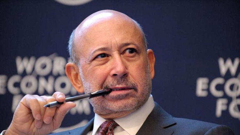 Topman Lloyd Blankfein van de bank Goldman Sachs zei dat het ergste van de crisis voorbij is. Beeld afp