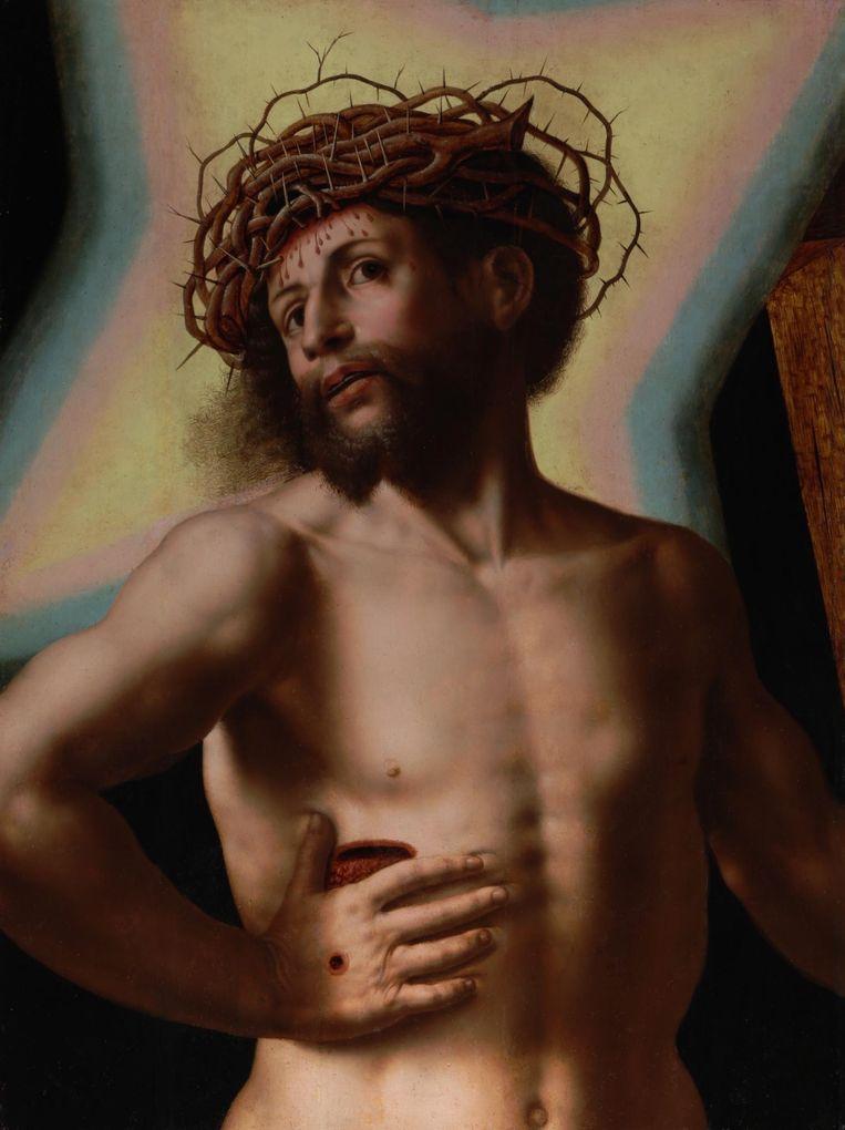 Christus de Verlosser (circa 1545) na restauratie en schoonmaak. Beeld