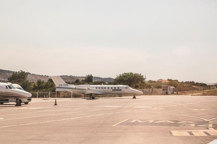 Het vliegtuig van dj Hardwell.