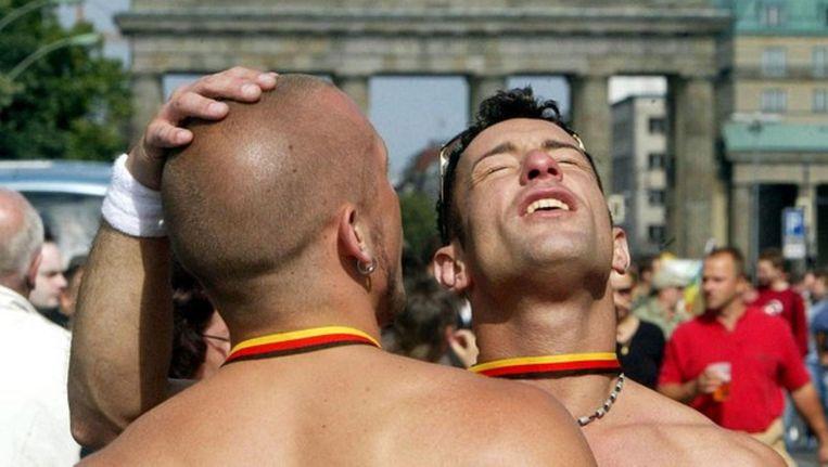 Deelnemers aan de Gay Parade in Berlijn. Beeld reuters