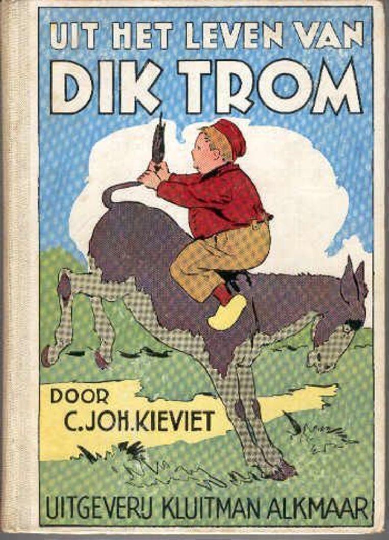 Boekomslag van een boek over Dik Trom. Beeld