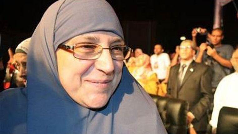 De vrouw van de Egyptische president, Naglaa Ali Mahmoud, oftewel,Um Ahmed Beeld AP