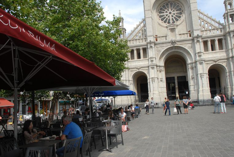 De Chinees werd ingerekend in de buurt van het Brusselse Sint-Katelijneplein.