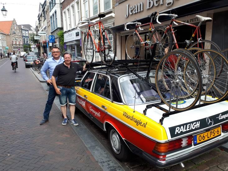 Een 'monument op wielen' op de Haagdijk: de ploegleiderswagen van Peter Post!