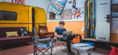 Studenten kunnen caravans van Gentse hostel voor een paar dagen in de week huren als kot