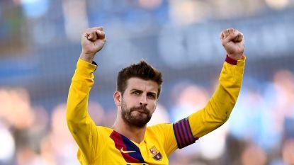 Hommeles in Camp Nou: Piqué en co lijnrecht tegenover directie Barcelona
