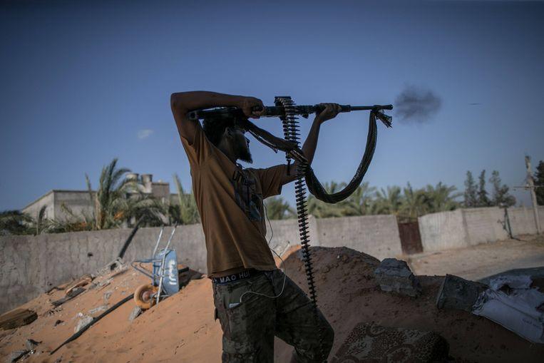 Strijders van Haftar. Beeld Hollandse Hoogte