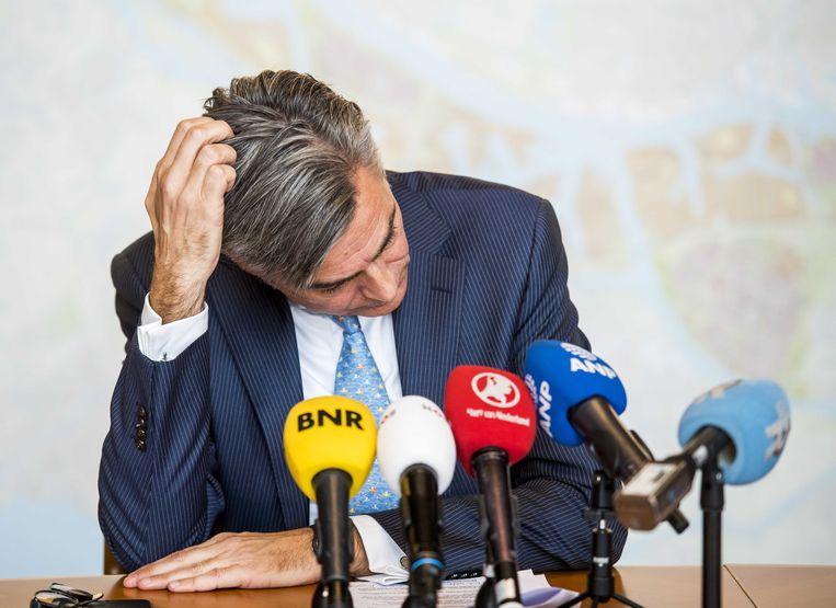 Adriaan Visser tijdens een persconferentie in 2017 Beeld ANP
