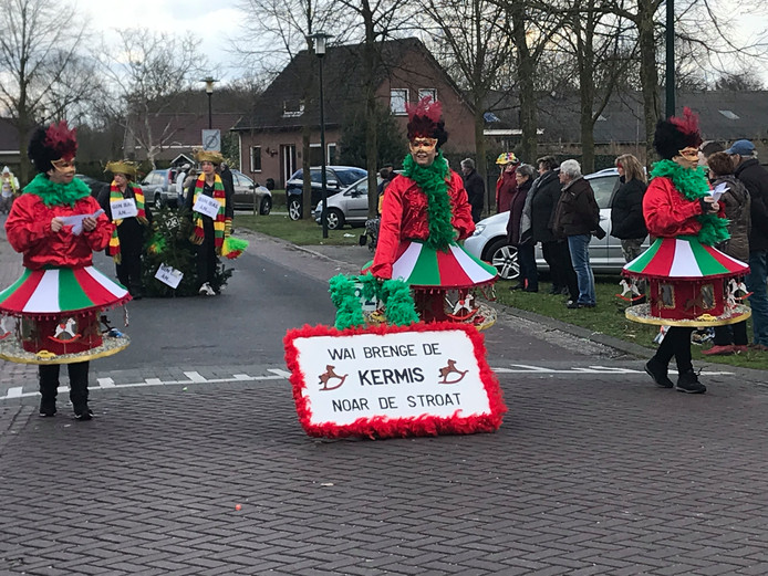 Optocht in Milheeze.