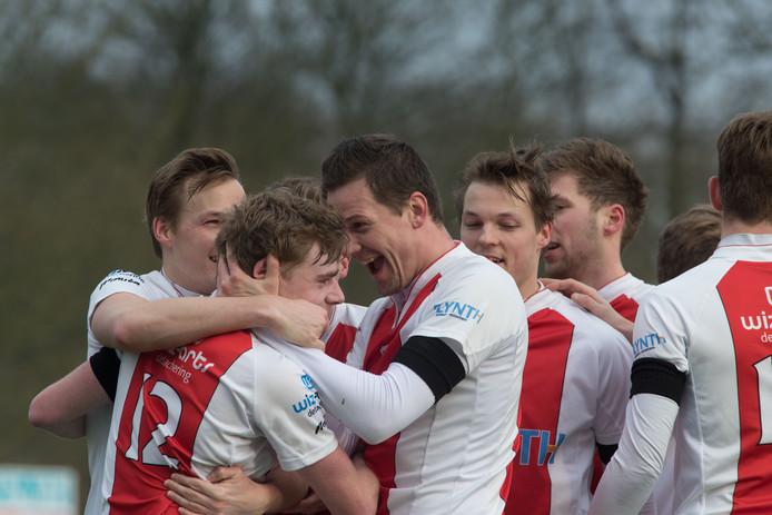 Flevo Boys mocht vier keer juichen in Barneveld en nog was het niet genoeg voor de winst.