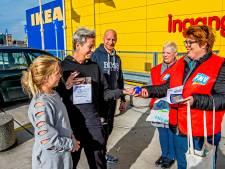 Stressbal FNV tegen hoge werkdruk Ikea