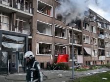 Geschrokken 'daklozen' na gasexplosie in Rotterdam