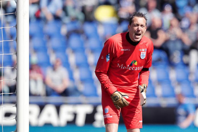 Diederik Boer in zijn laatste thuiswedstrijd voor PEC Zwolle.
