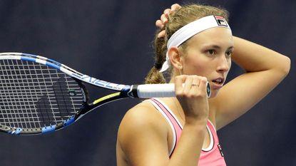 Geen derde WTA-finale voor Elise Mertens in Luxemburg