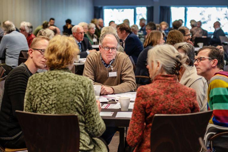De bijeenkomst voor onderwijsprofessionals.  Beeld Marcel Prins