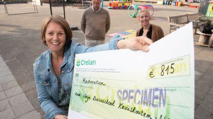 """Oudervereniging schenkt cheque aan Vrije Basisschool Kruishoutem-Nokere: """"Hard gewerkt en veel moeten missen in coronatijd"""""""