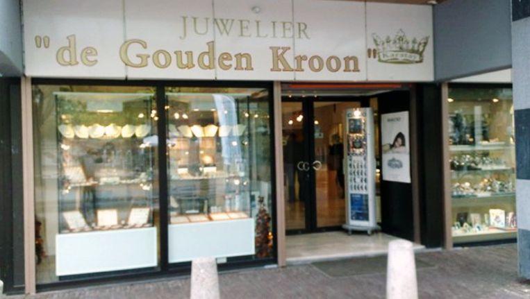 Juwelierszaak de Gouden Kroon opnieuw overvallen. Beeld Karatay/Gouden Kroon