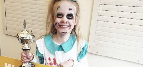 Evi is de mooiste tijdens het kindercarnaval in Haaksbergen