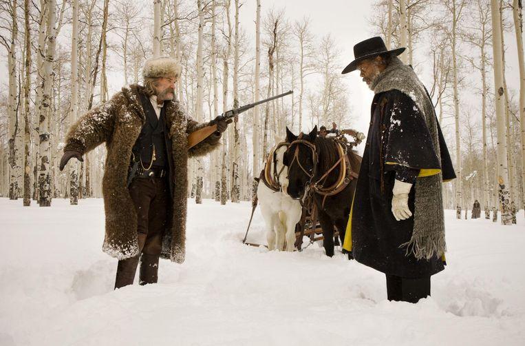 Een beeld uit 'The Hateful Eight', de film van Quentin Tarantinon waarvoor Ennio Morricone de soundtrack componeerde.