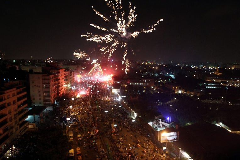 Vuurwerk in Caïro. Beeld null
