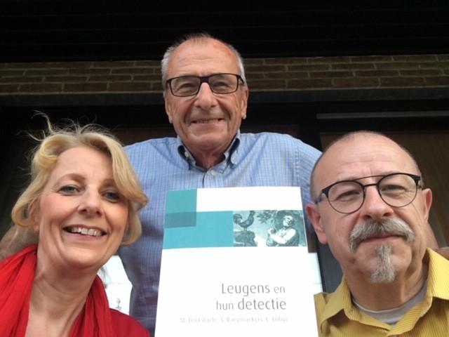 Marc Bockstaele met Christian en Carine Lapinne.
