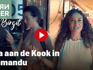 Katja aan de kook in Kathmandu Deel 1