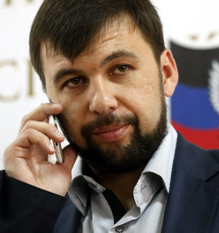 Denis Poesjilin, een leider van zelfverklaarde Volksrepubliek Donetsk. Beeld EPA