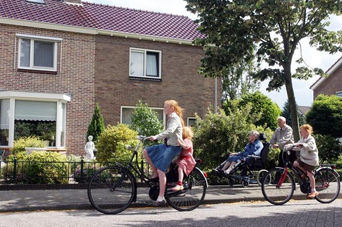 Het huis aan de Lindenlaan in Staphorst waar zich een familiedrama voltrok. Foto Sacha Wunderink