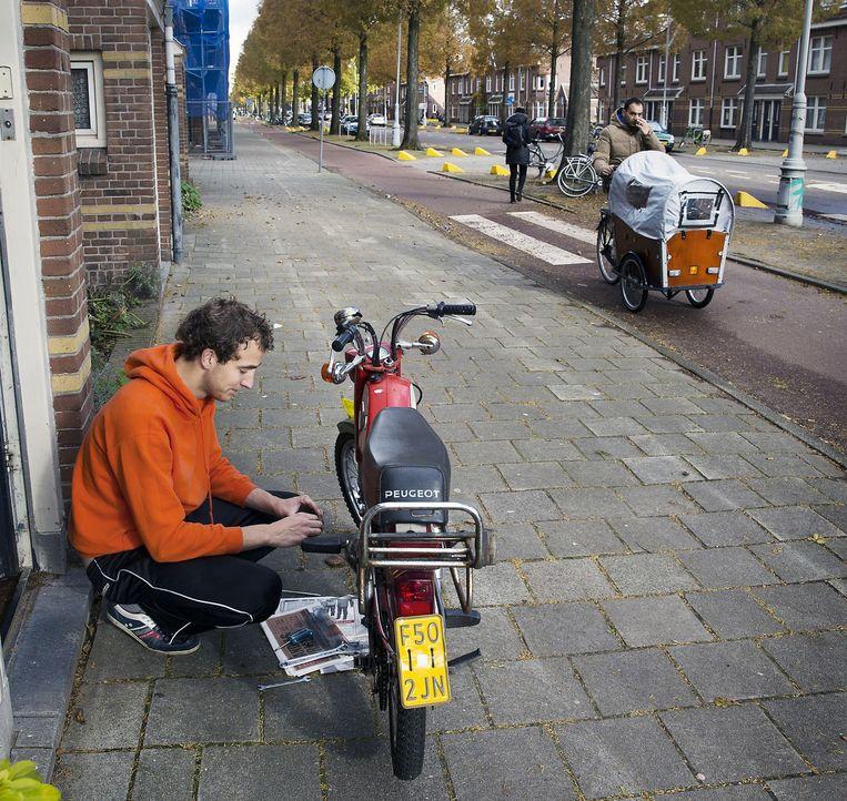 Straatbeeld uit de Van der Pekbuurt in Amsterdam-Noord. Beeld Werry Crone/Hollandse Hoogte