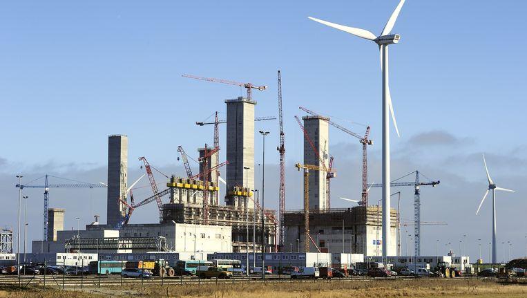 De energiecentrale in aanbouw in de Eemshaven, januari 2011. Beeld ANP XTRA