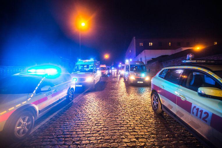 Omwille van het Medisch Interventieplan was een ongeziene hoeveelheid combi's, ambulances en brandweer aanwezig uit Vlaams-Brabant, Waals-Brabant, Brussel en Henegouwen.