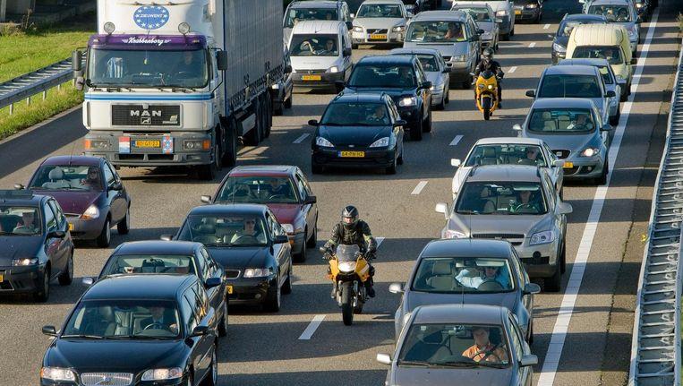 De A10 is na de A13 de drukste snelweg van Nederland. Beeld anp