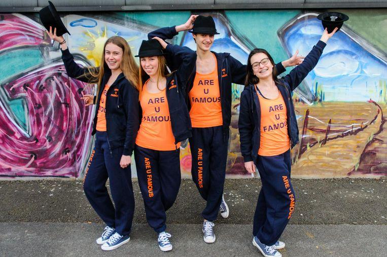 Charlotte, Femke, Lander en Stephany, mogen met 'Are U Famous' mee naar Boston.