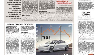 Tesla vliegt uit de bocht