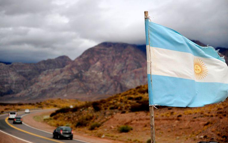 Vele katholieke Argentijnen steken vanuit Uspallata de grens over naar Chili om de paus te zien.