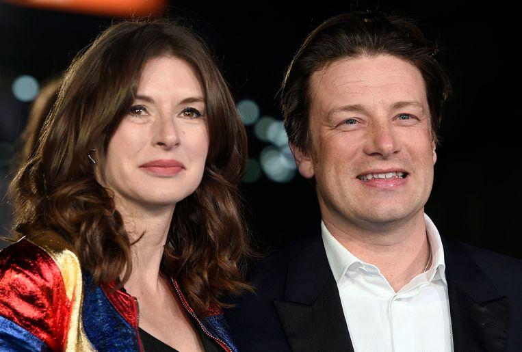 Jamie Oliver en zijn vrouw Jools.