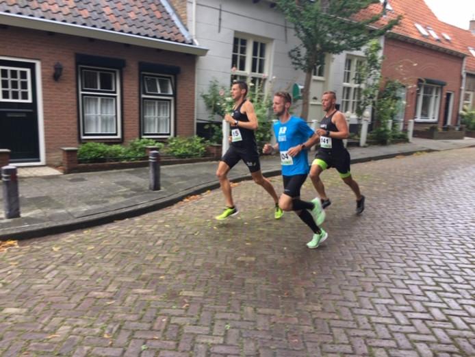 De kopgroep met Martijn de Kok, Patrick de Vos en Jaap Wouters (vlnr).