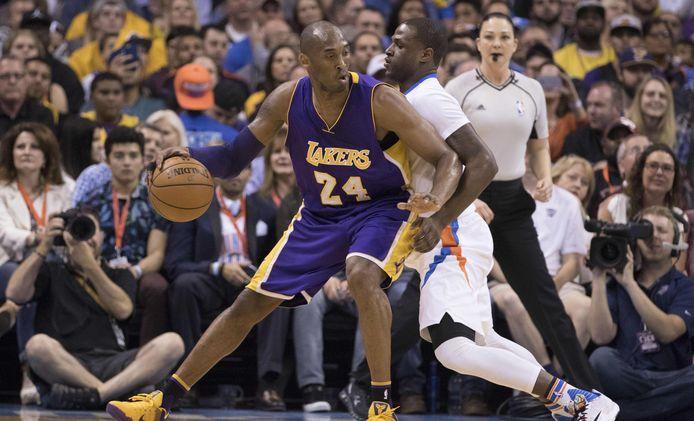 Kobe Bryant (24) speelde zijn hele carrière voor de Los Angeles Lakers.
