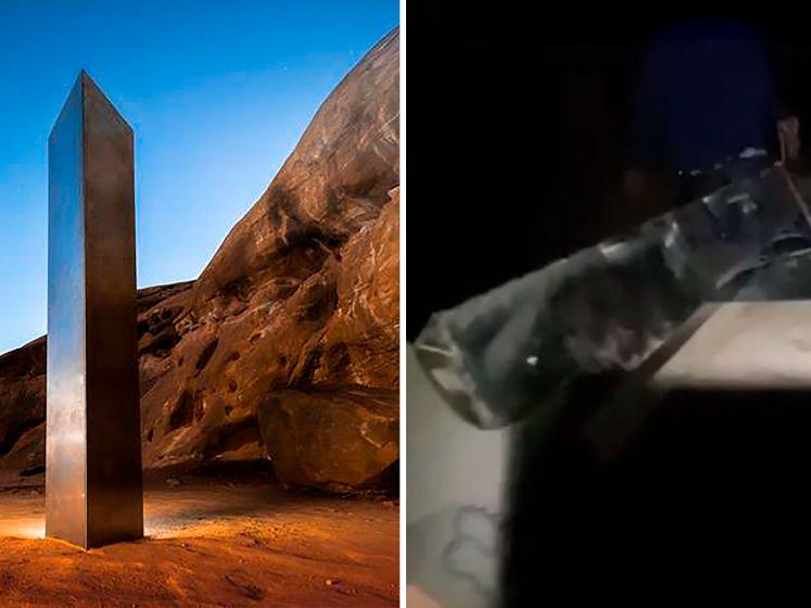 Video opgedoken van man die monoliet weghaalt uit woestijn